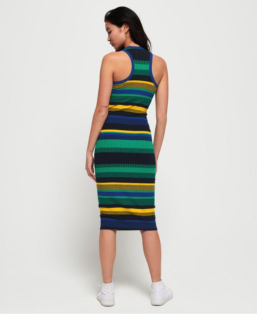 Superdry Knitted Stripe Midi Dress