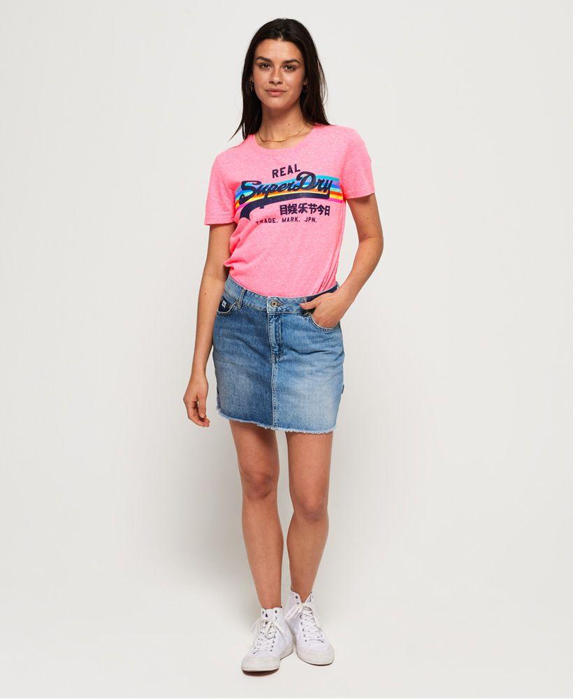 Superdry Vintage Logo Retro Rainbow T-Shirt