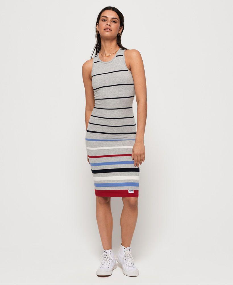 Superdry Stripe Midi Dress
