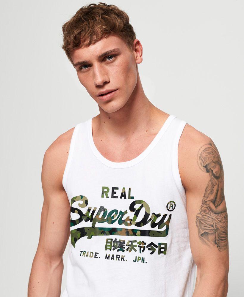 Superdry Vintage Logo Layered Camo Lite Vest Top