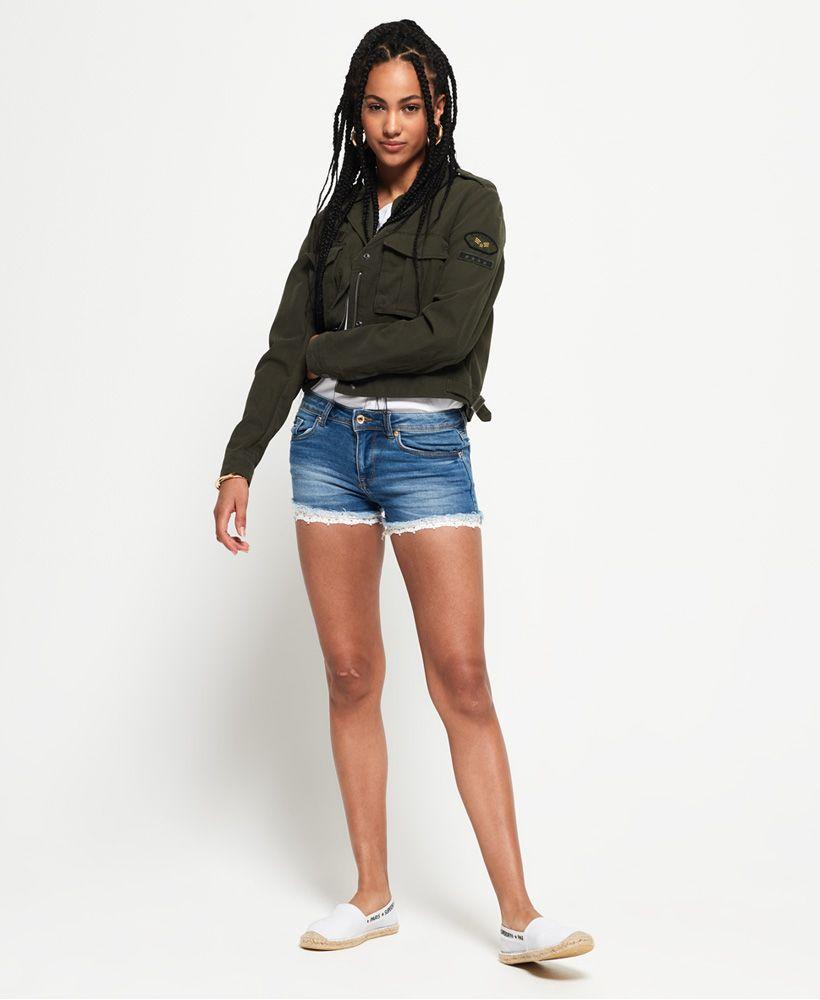 Superdry Denim Lace Hot Shorts