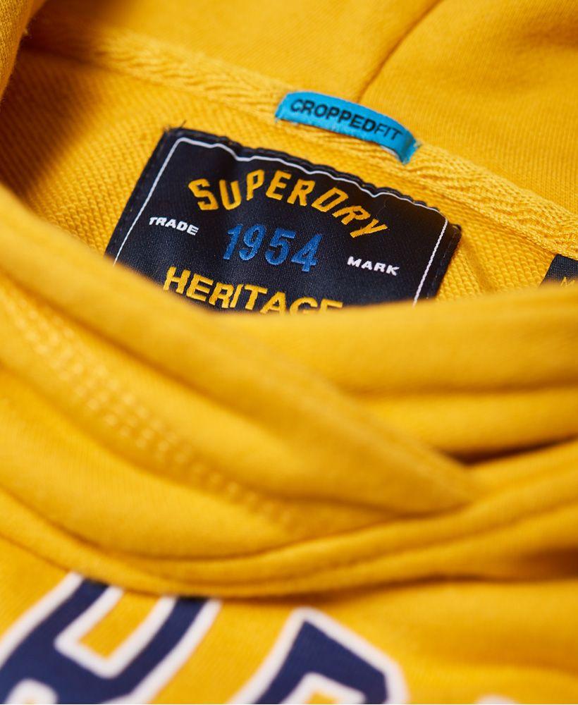 Superdry Real Champs College Crop Hoodie