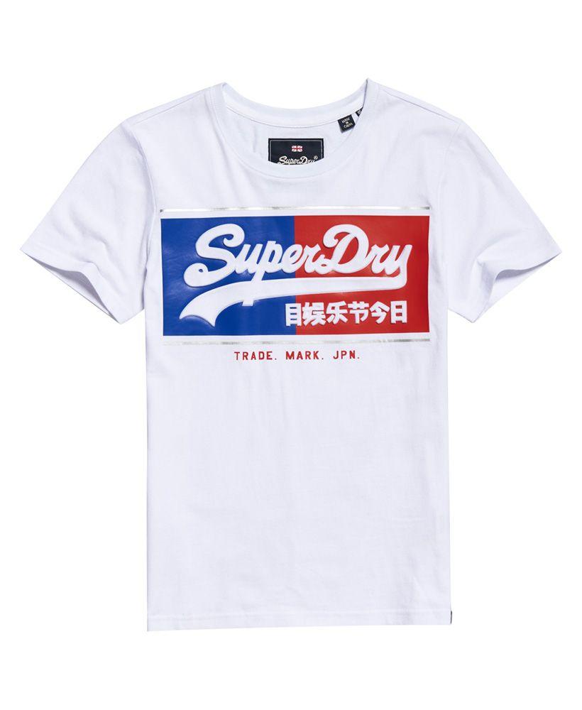 Superdry Vintage Logo Block Embossed T-Shirt