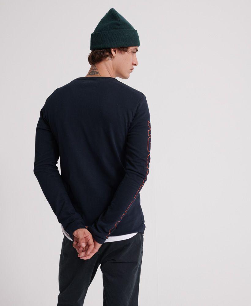 Superdry Vintage Logo Linear Long Sleeve T-Shirt