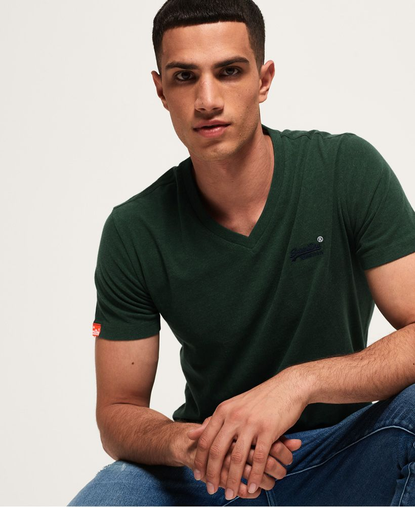 Superdry Organic Cotton Vintage Embroidery Vee T-Shirt