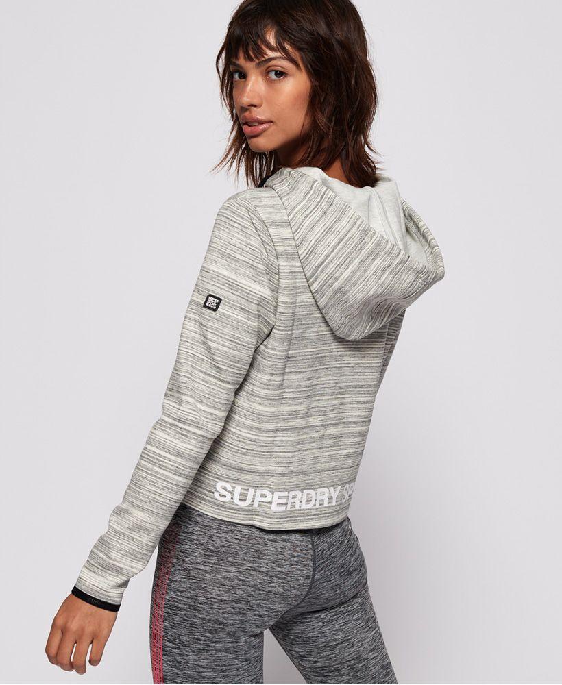 Superdry SD Sport Gym Tech Luxe Crop Hoodie
