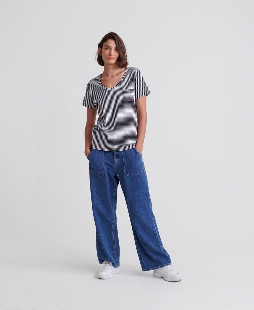 Superdry Stripe Orange Label Essential V-Neck T-Shirt