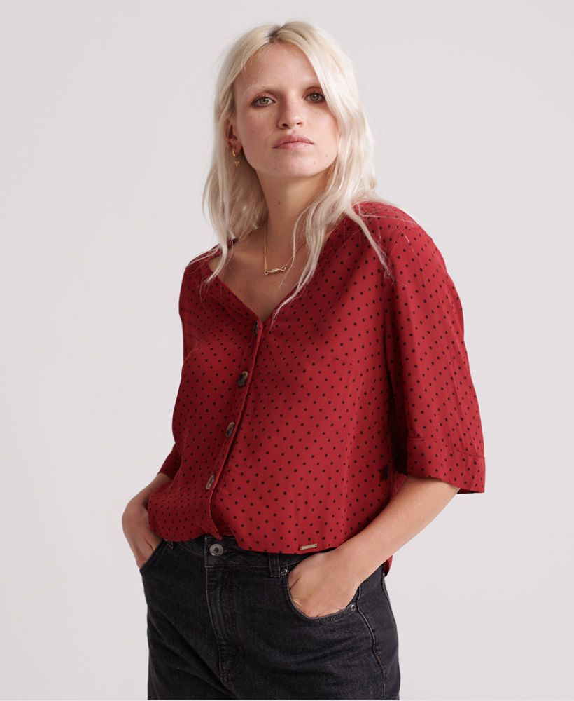 Superdry Pippa Button Blouse