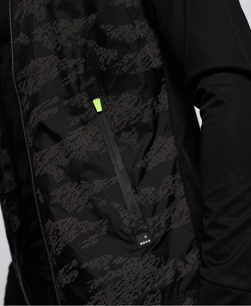 Superdry Training Stretch Hybrid Zip Through Jacket