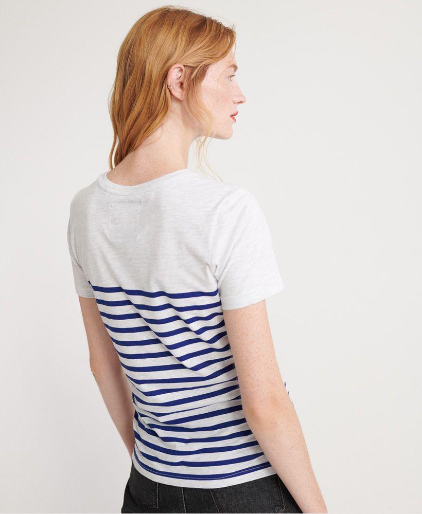 Superdry Linear Script Stripe T-Shirt