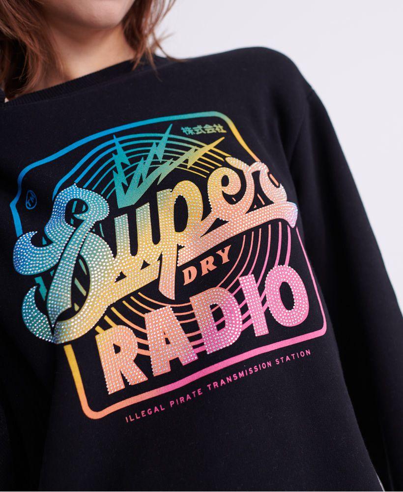 Superdry Neon Classic Radio TV Crew Sweatshirt