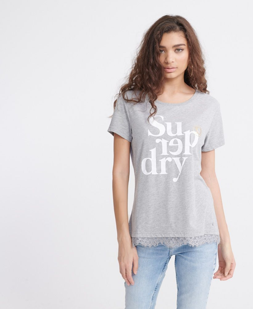Superdry Tilly Lace Graphic T-Shirt