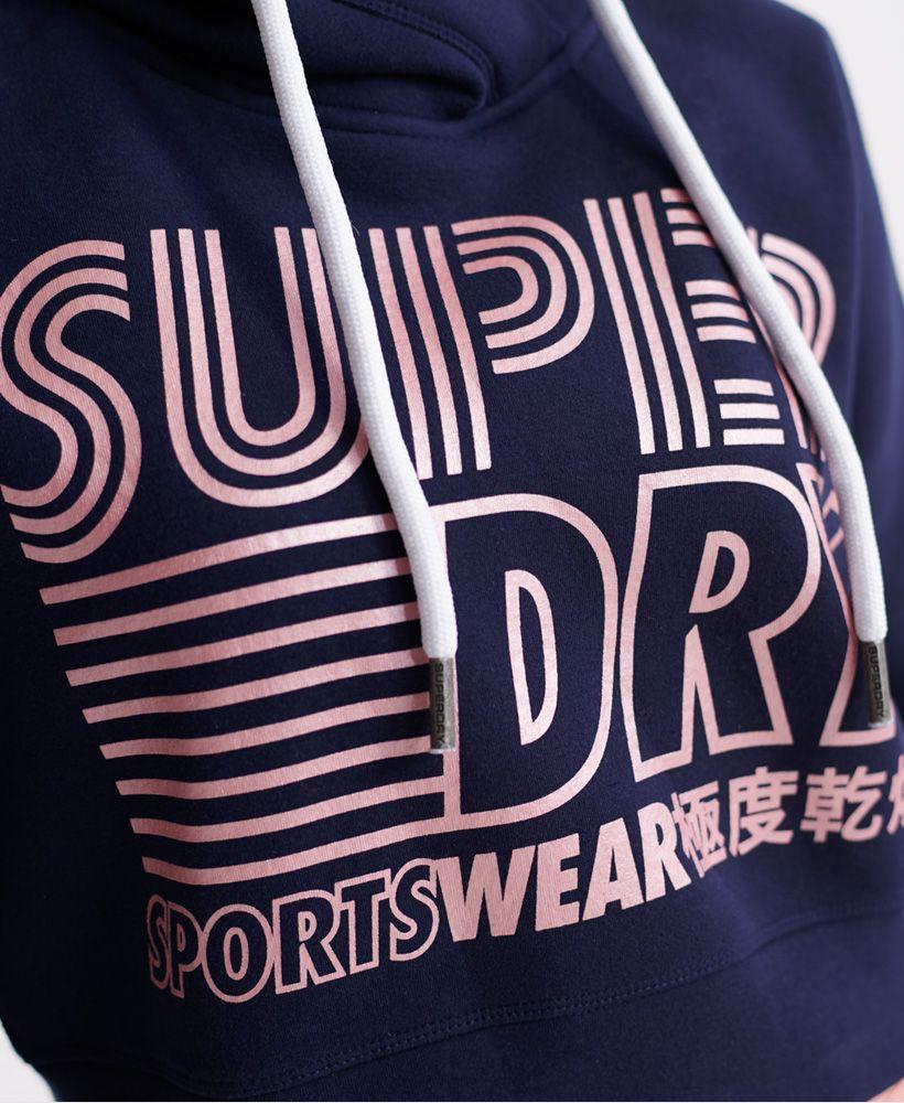 Superdry Flash Sport Crop Hoodie