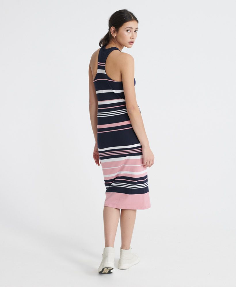 Superdry Verigated Stripe Midi Dress