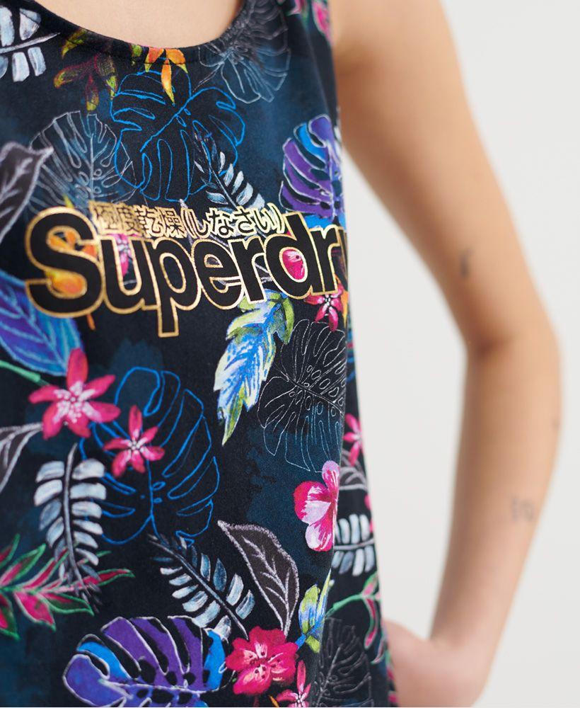 Superdry Swiss Logo Tropical Classic Vest Top