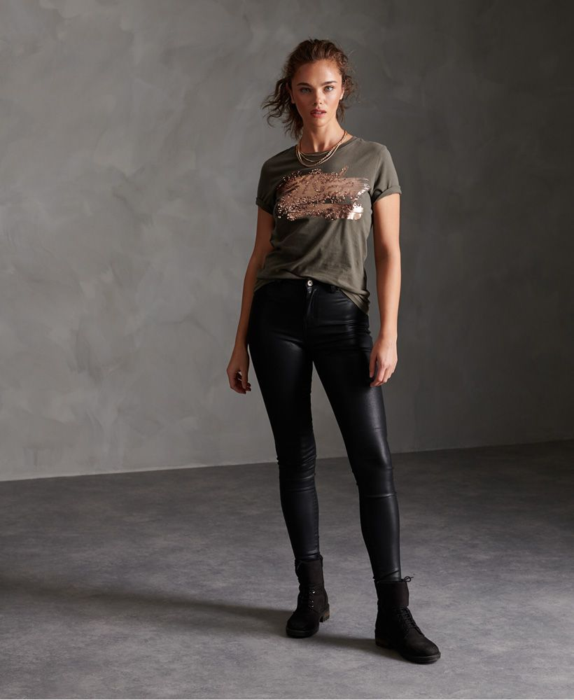 Superdry The Real Foil Sequin T-Shirt