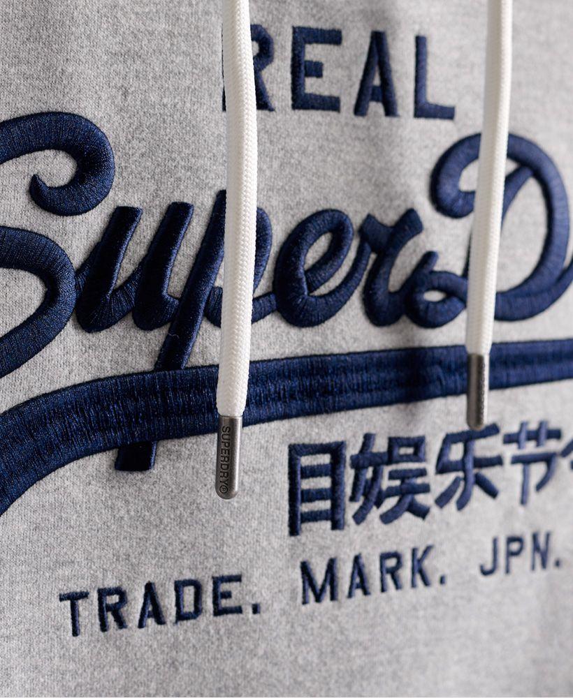 Superdry Vintage Logo Monogram Embroidered Hoodie