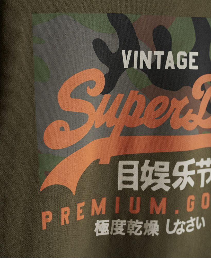 Superdry VIntage Logo Camo Crew Loopback Sweatshirt