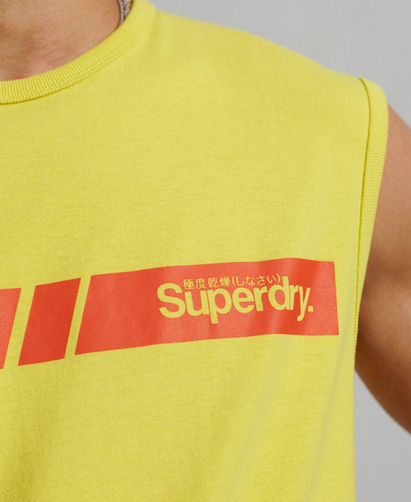 Superdry Core Logo Sport Stripe Vest Top