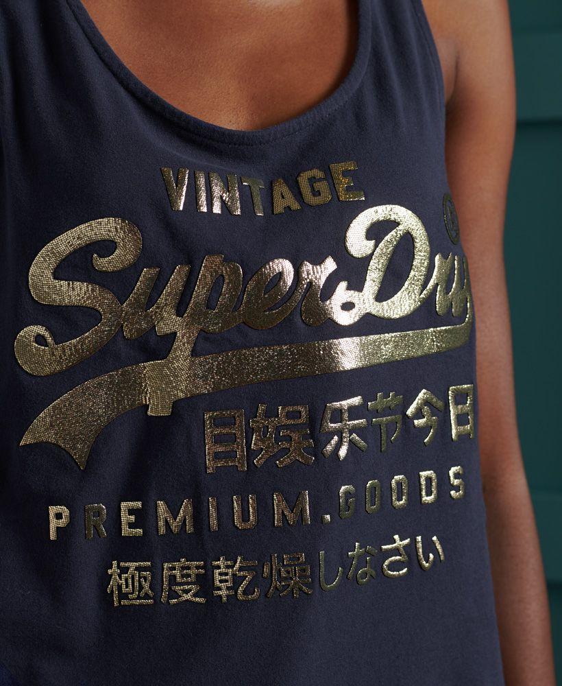 Superdry Premium Goods Metallic Classic Vest Top