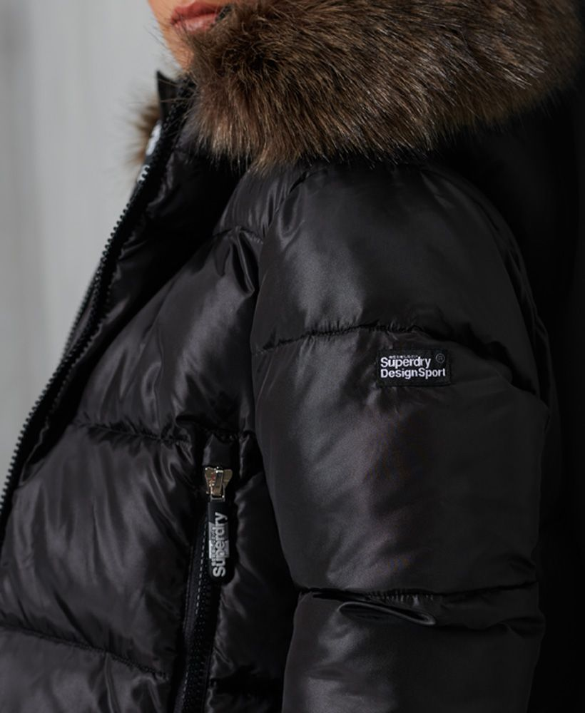 Superdry Sport Puffer Borg Crop Jacket