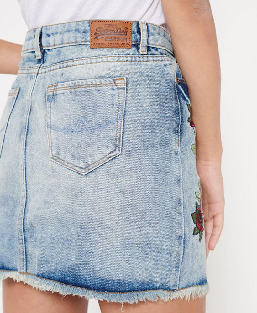 Superdry Denim Micro Mini Skirt