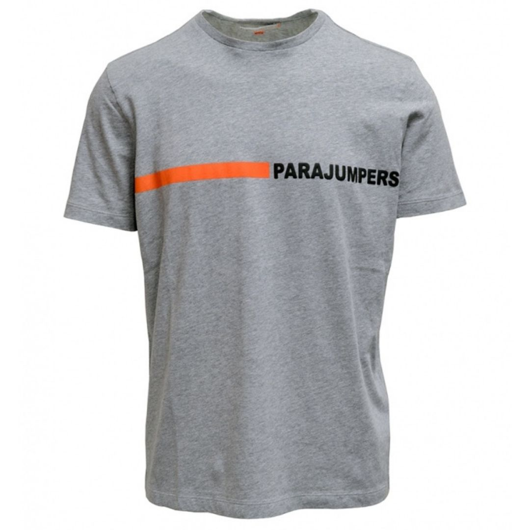 Parajumpers Urban Tape Logo Grey T-shirt