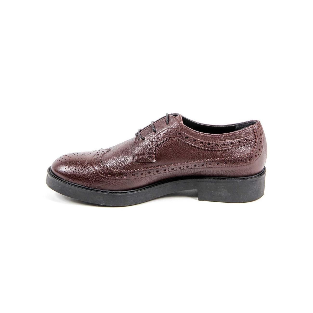 V 1969 Italia Womens Brogue Shoe B1670 CERVO BORDEAUX