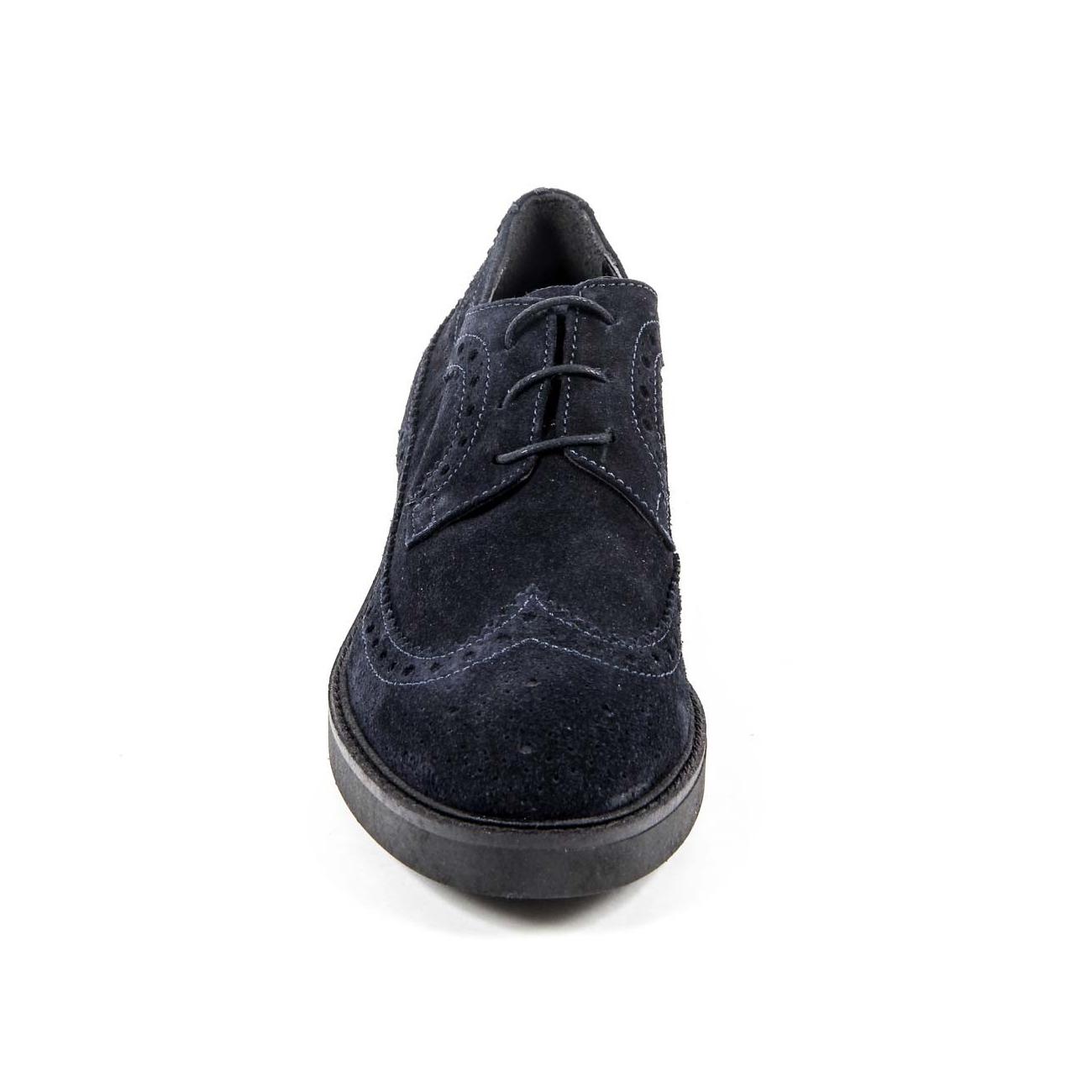 V 1969 Italia Women's Brogue Shoe B1670 VELOUR BLUE