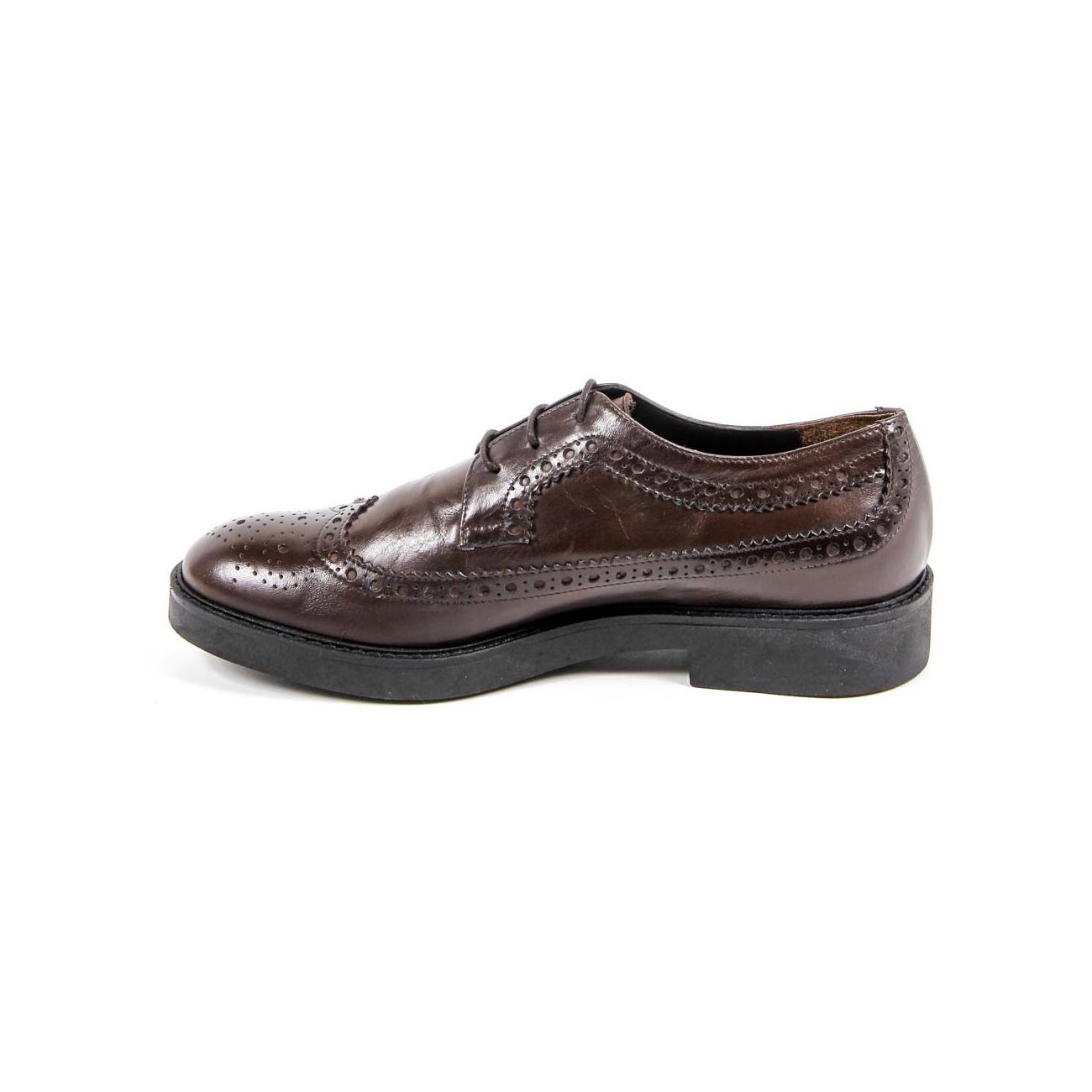 V 1969 Italia Women's Brogue Shoe B1670 VITELLO T. MORO COCCO