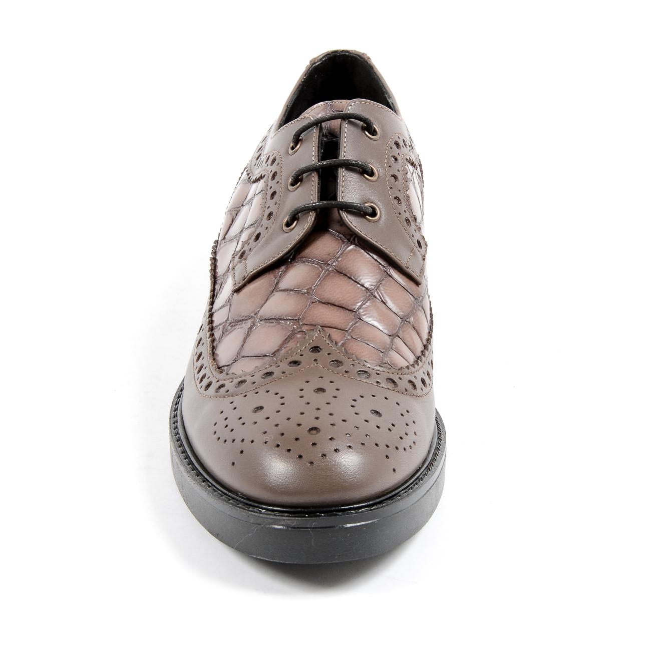 V 1969 Italia Womens Brogue Shoe Taupe TRENTO