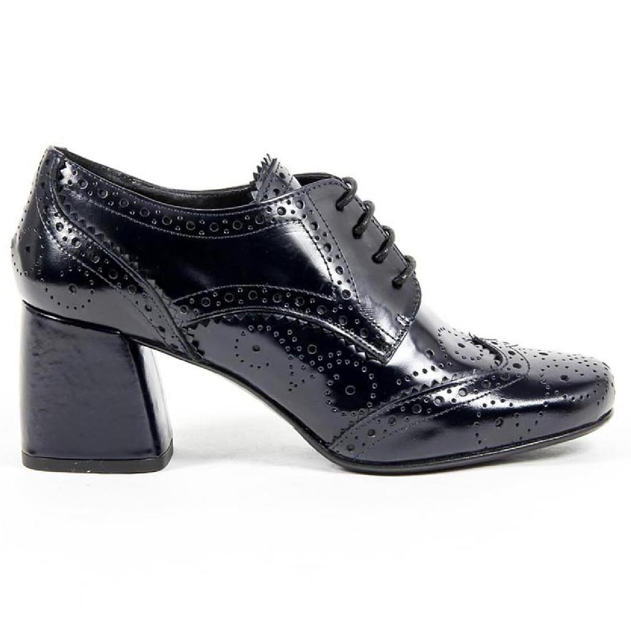 V 1969 Italia Womens Heeled Brogue Shoe B2460 AMALFI MORBIDO RIVER