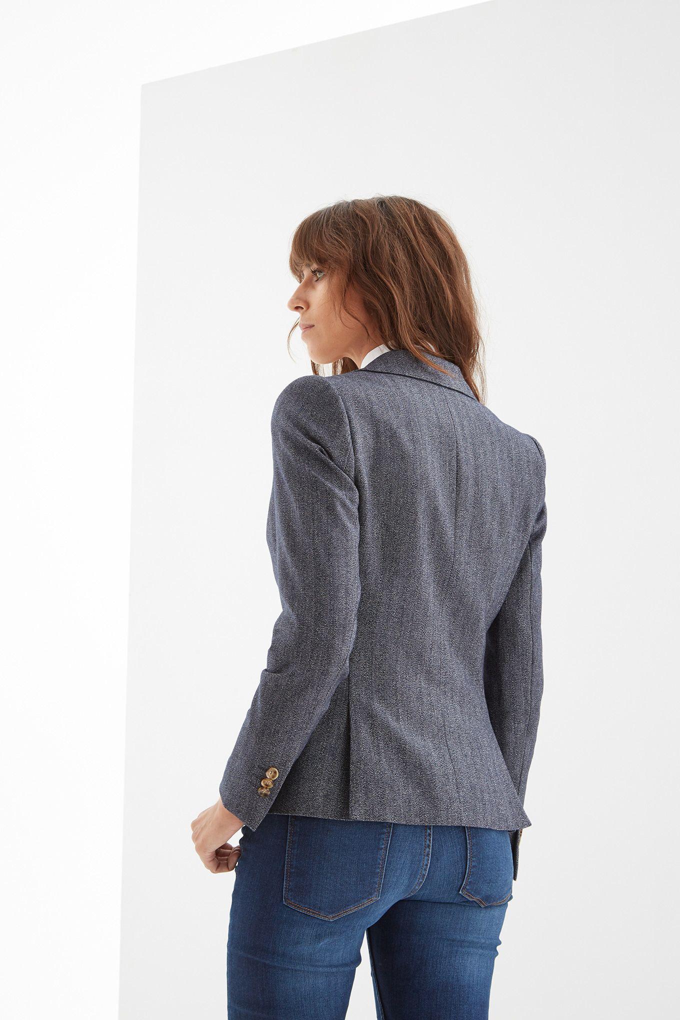 Women s Herringbone Classic Blazer