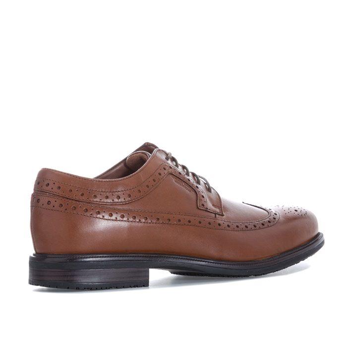 Men's Rockport Essential Details 2 Wing Tip Shoes in Tan