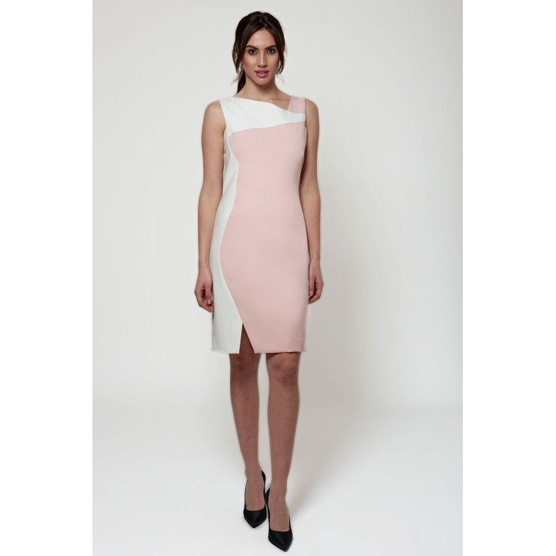 Colour Block Knee Length Dress