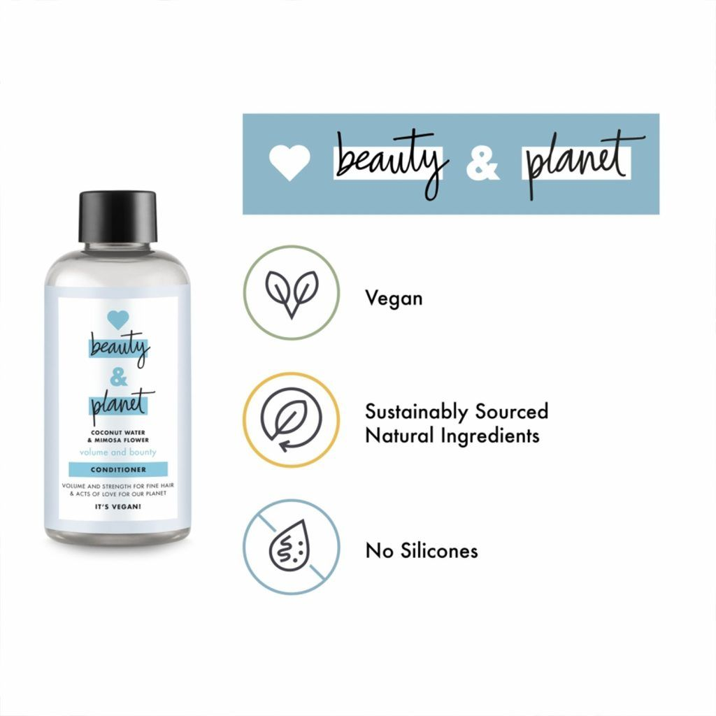 Love Beauty & Planet Volume and Bounty Coconut Water & Mimosa Flower Conditioner Mini 100ml (Pack of 6)