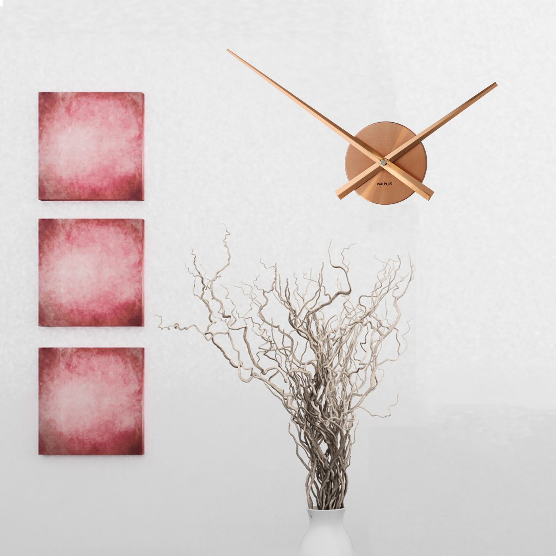 Walplus Designer Flexi Minimal Wall Clock Copper