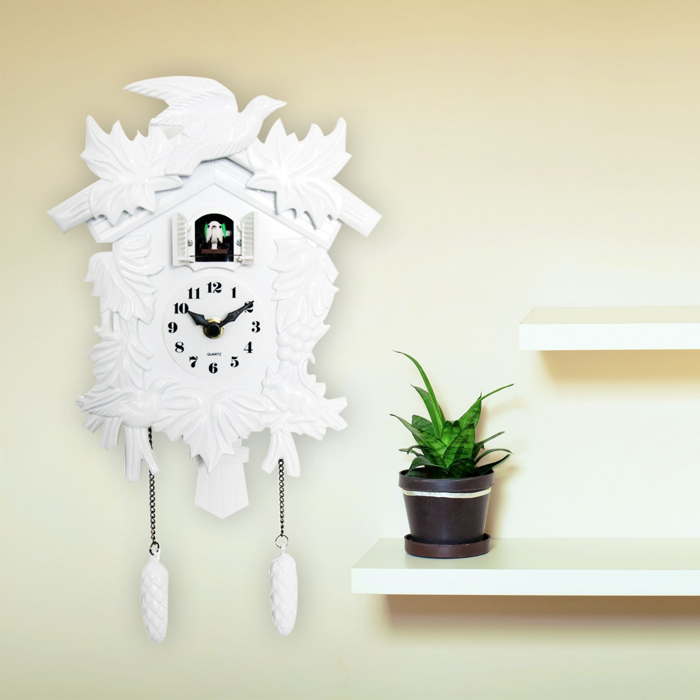 Cuckoo Clock in White