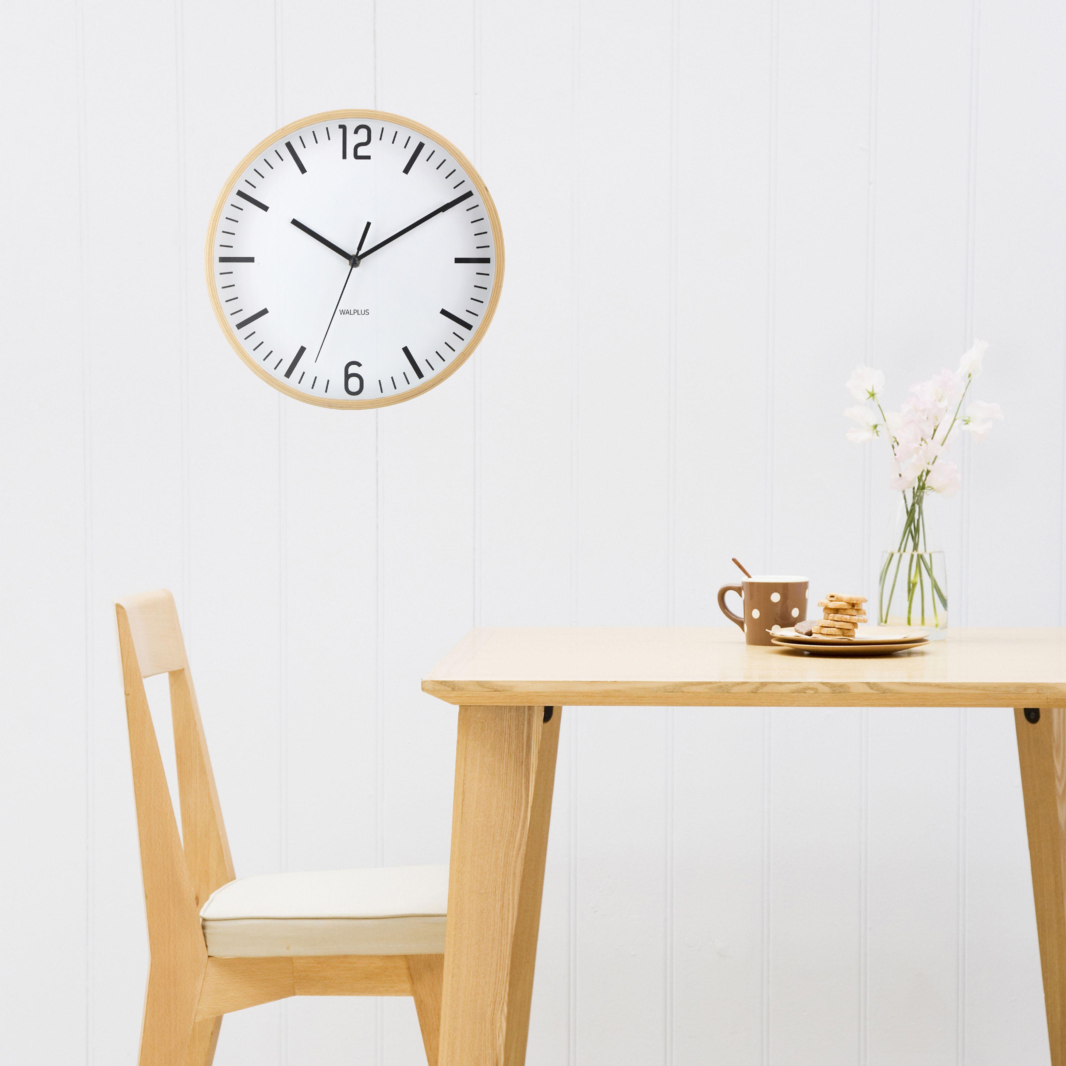 Walplus Scandinavian Hygge Timber 26cm Wall Clock
