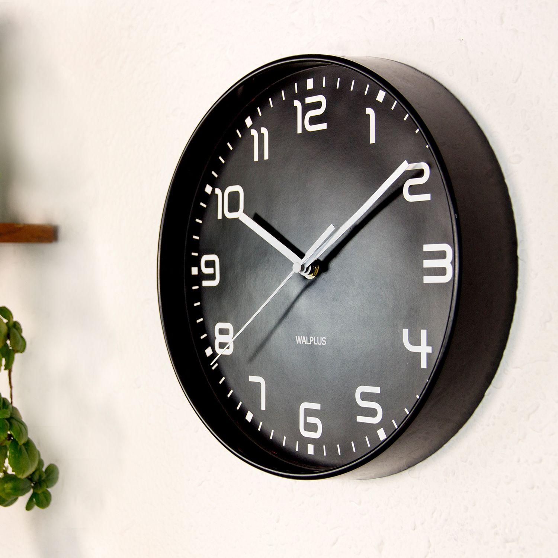 Walplus ChicTime Black 25cm Wall Clock Quality Silent Movement