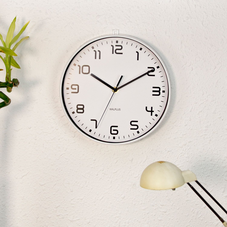 Walplus ChicTime White 25cm Wall Clock Silent Movement Home