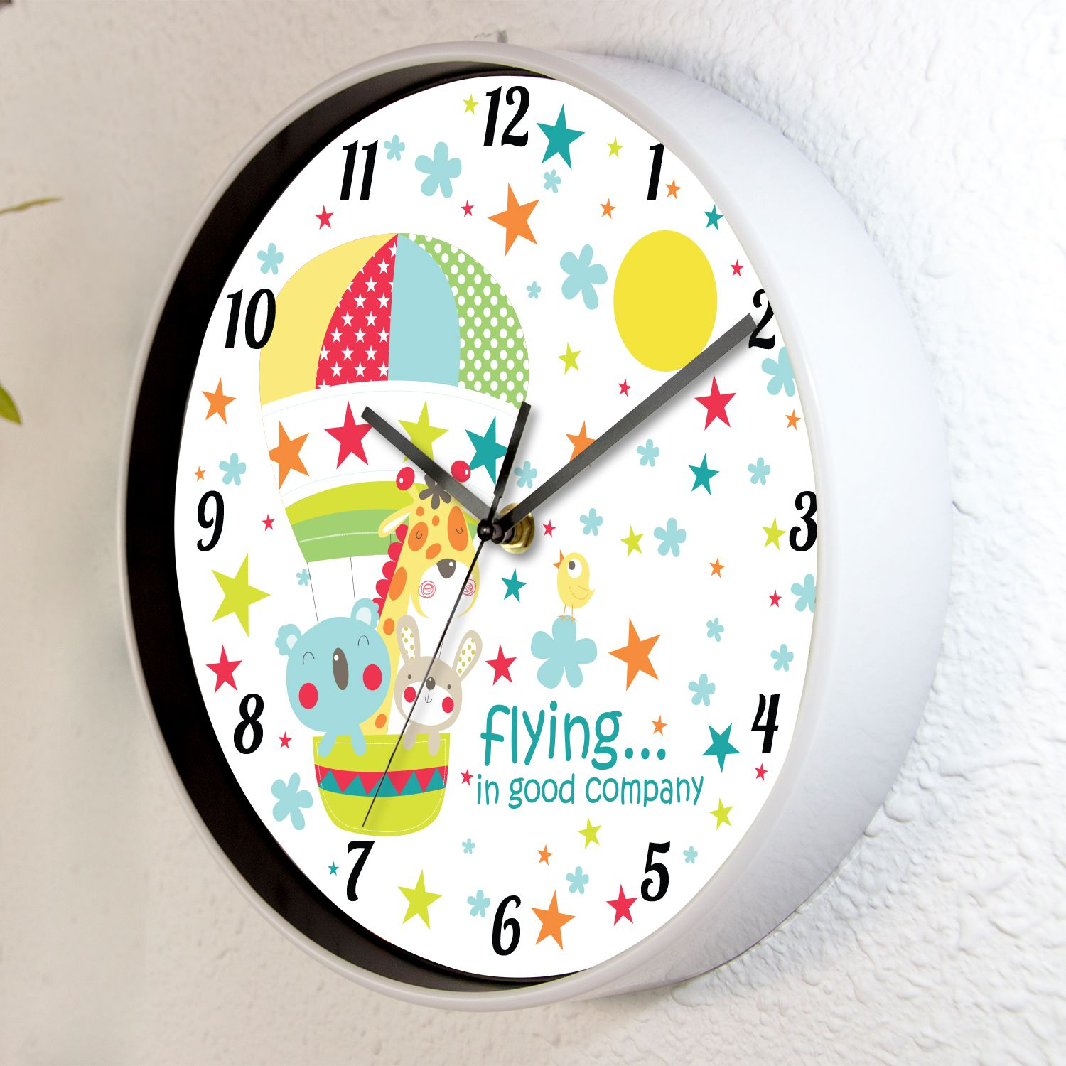 Kids Room Time With Friends Children Wall Clock