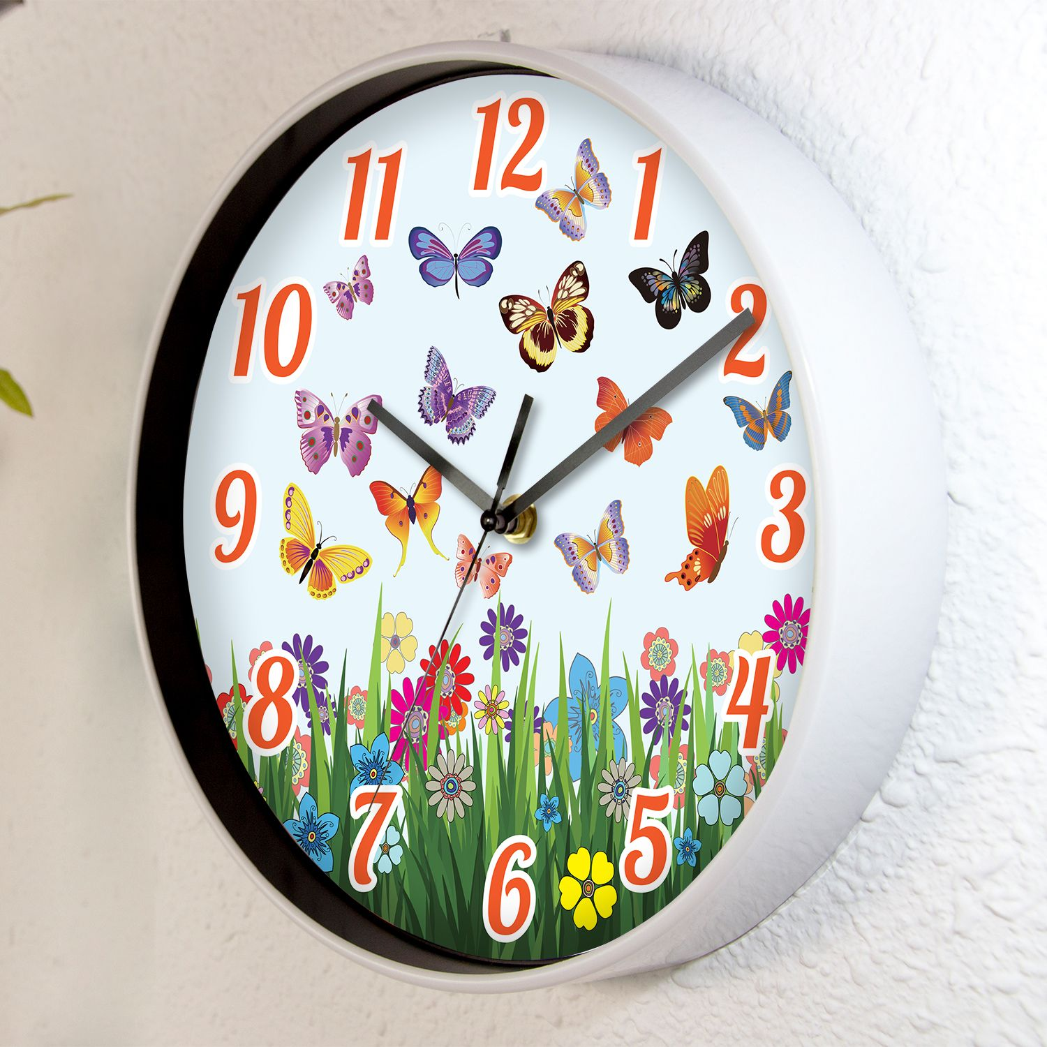 Summer Day Children Wall Clock Kids Room