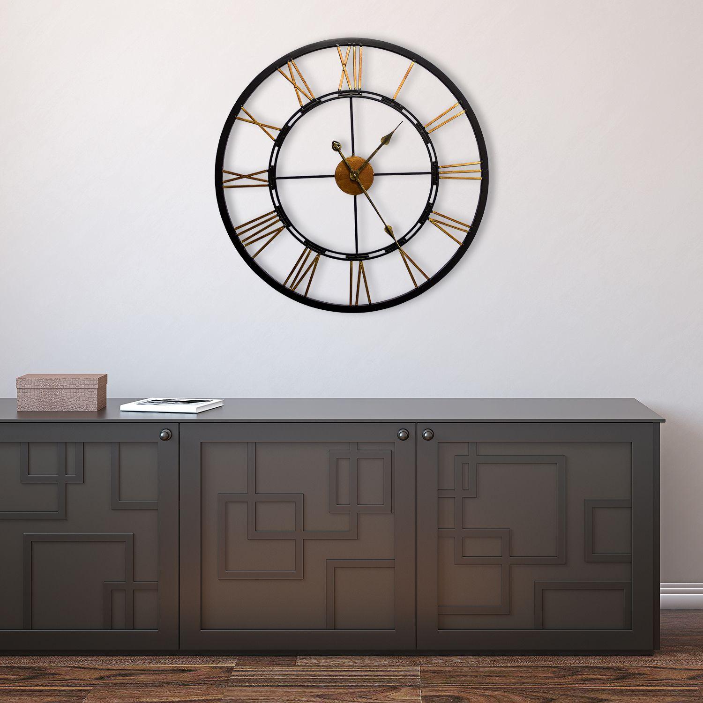 WC2085 - Greenwich Roman Iron Clock 68cm