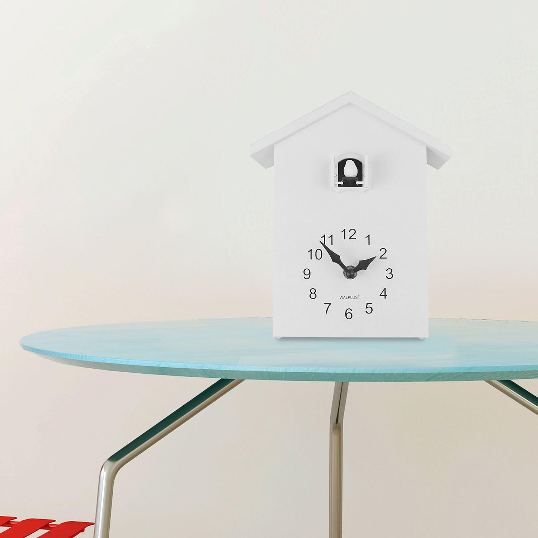 WC2087T - Walplus White Cuckoo Table Clock - White Window