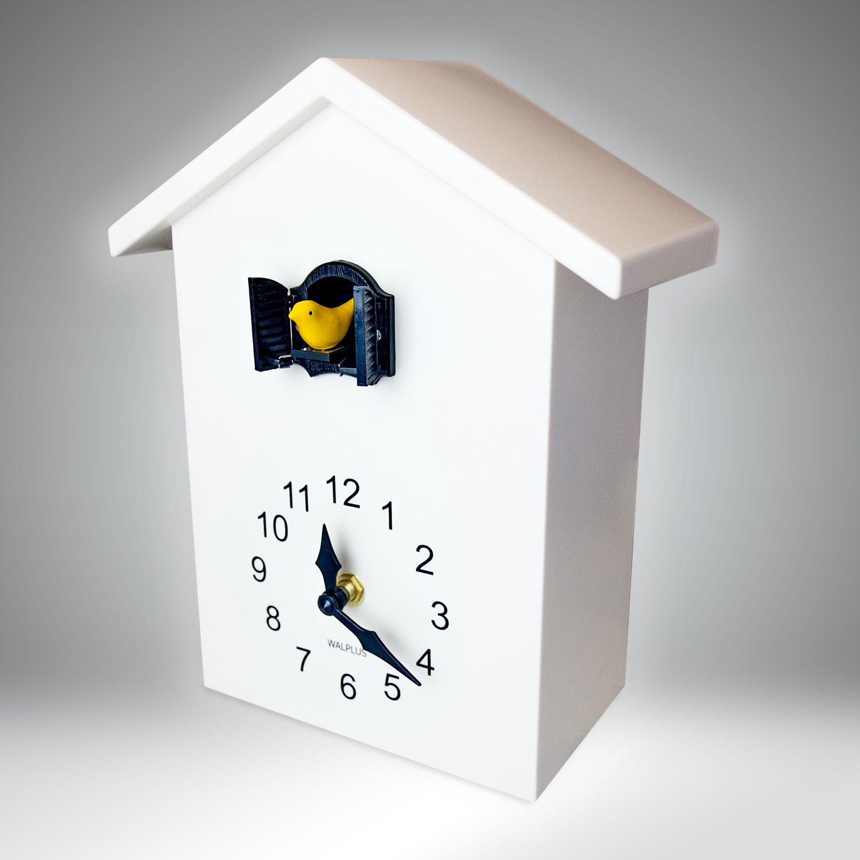 WC2088 - Walplus White Cuckoo Clock - Black Window