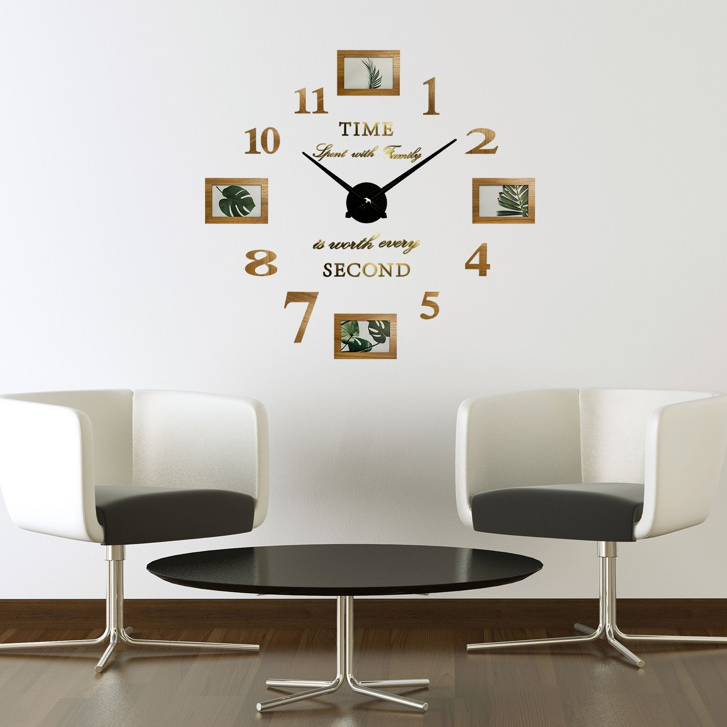 WC2093 - Family Photo Timber Frame Clock