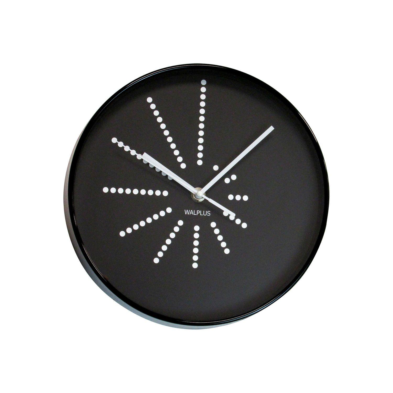 WC2120 - Black Walplus Clock Minimalistic Dots Design