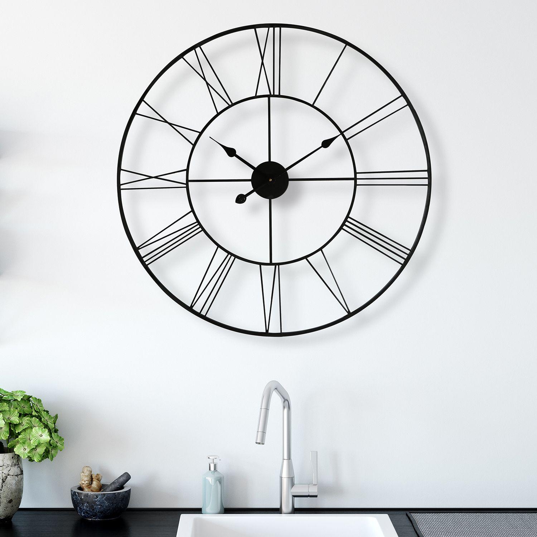 WC2126 - Walplus Minimalist Slim Iron Wall Clock 76cm