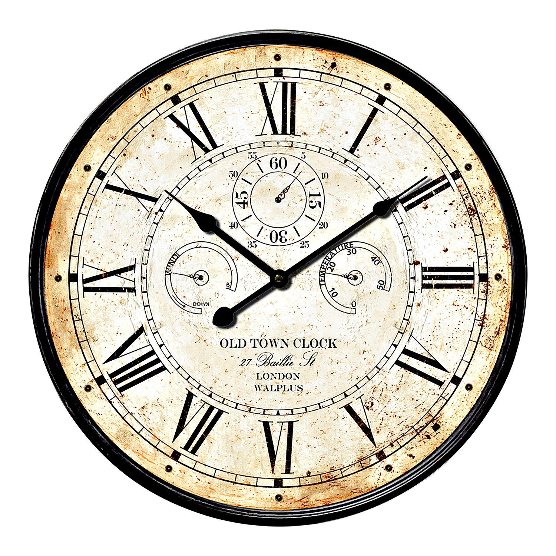 WC2130 - Vintage Rusty looked Metal Wall Clock 60cm